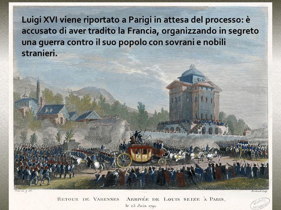Luigi XVI viene riportato a Parigi in attesa del processo: è accusato di aver tradito la Francia, organizzando in segreto una guerra contro il suo popolo con sovrani e nobili stranieri.