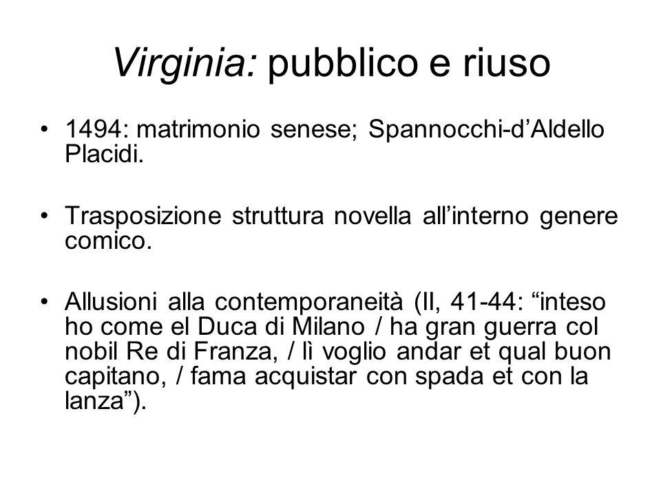 Virginia: pubblico e riuso 1494: matrimonio senese; Spannocchi-d'Aldello Placidi.