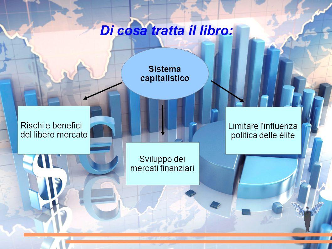 Di cosa tratta il libro: Sistema capitalistico Rischi e benefici del libero mercato Sviluppo dei mercati finanziari Limitare l'influenza politica dell