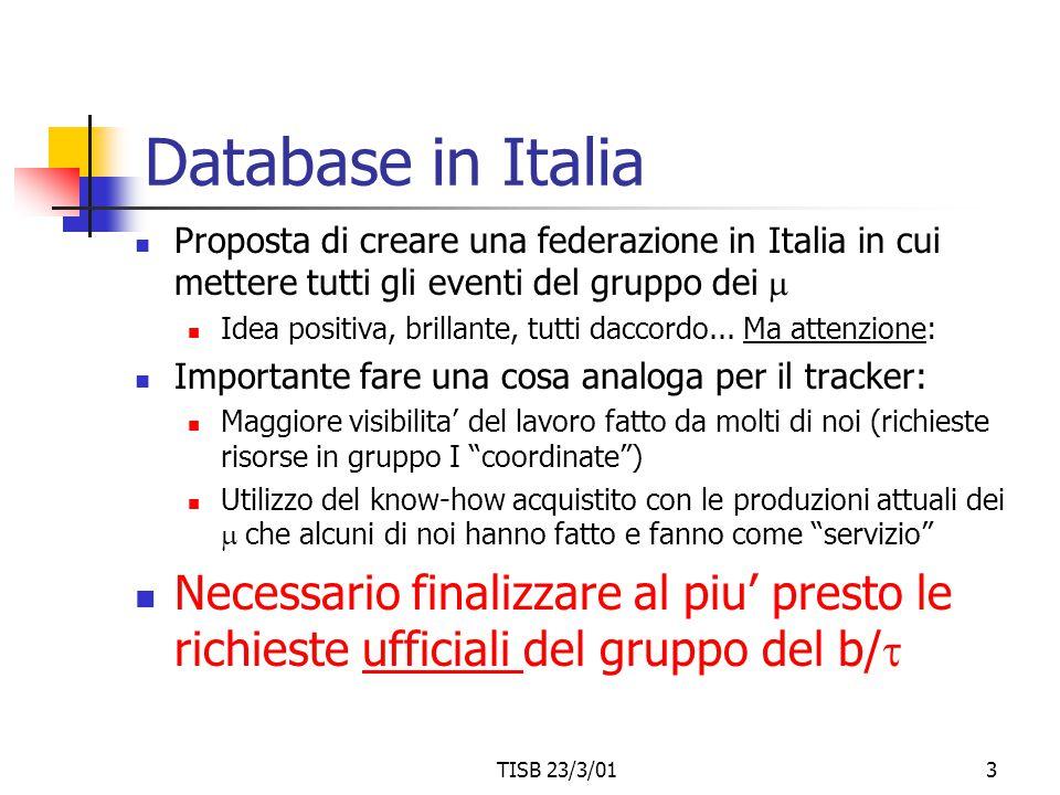 TISB 23/3/013 Database in Italia Proposta di creare una federazione in Italia in cui mettere tutti gli eventi del gruppo dei  Idea positiva, brillant