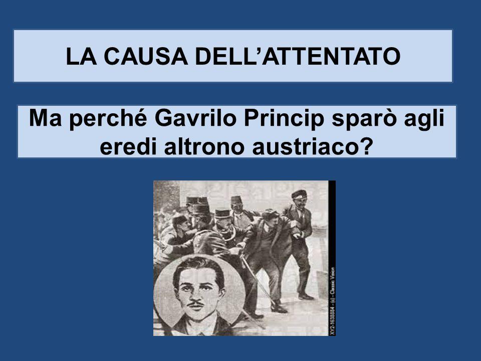 LA CAUSA DELL'ATTENTATO Ma perché Gavrilo Princip sparò agli eredi altrono austriaco?