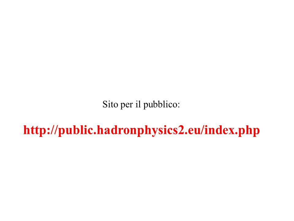 Sito per il pubblico: http://public.hadronphysics2.eu/index.php