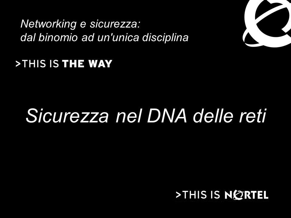 Sicurezza nel DNA delle reti Networking e sicurezza: dal binomio ad un unica disciplina