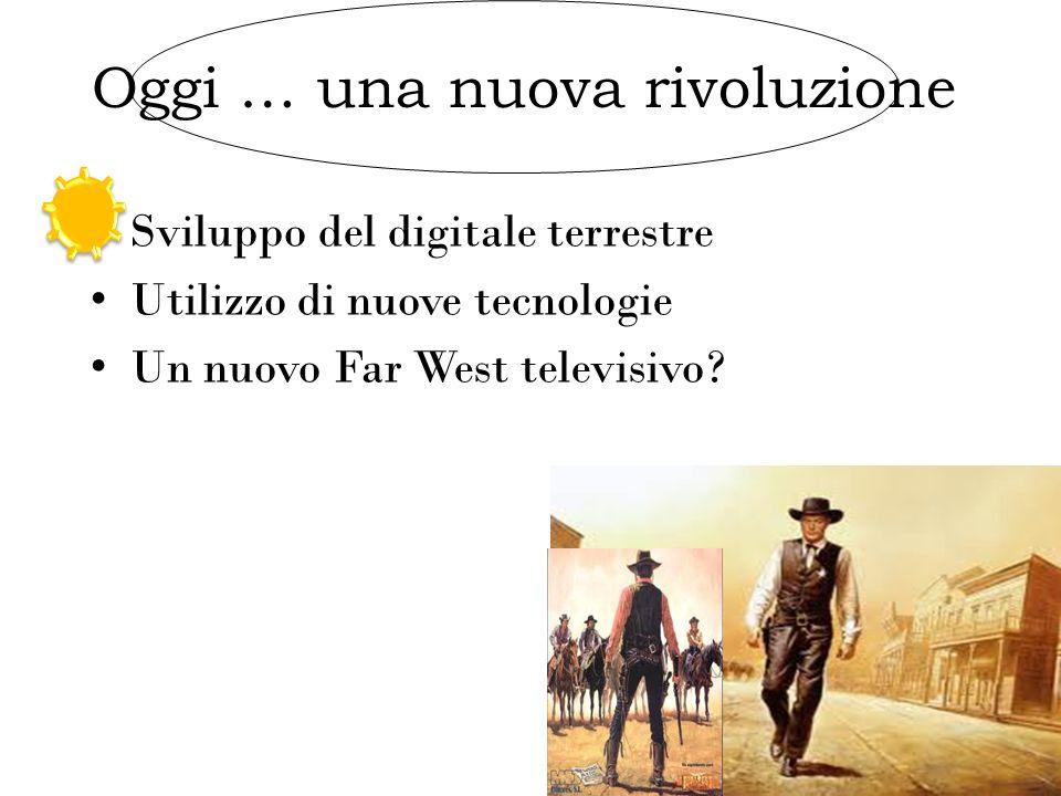 Sviluppo del digitale terrestre Utilizzo di nuove tecnologie Un nuovo Far West televisivo? : Oggi … una nuova rivoluzione