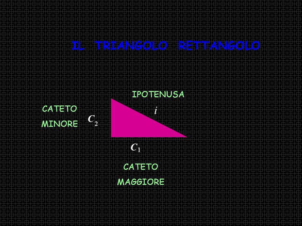 Verifichiamo il Teorema di Pitagora Enunciato: In un triangolo rettangolo il quadrato costruito sull'ipotenusa è equivalente alla somma dei quadrati costruiti sui cateti Enunciato
