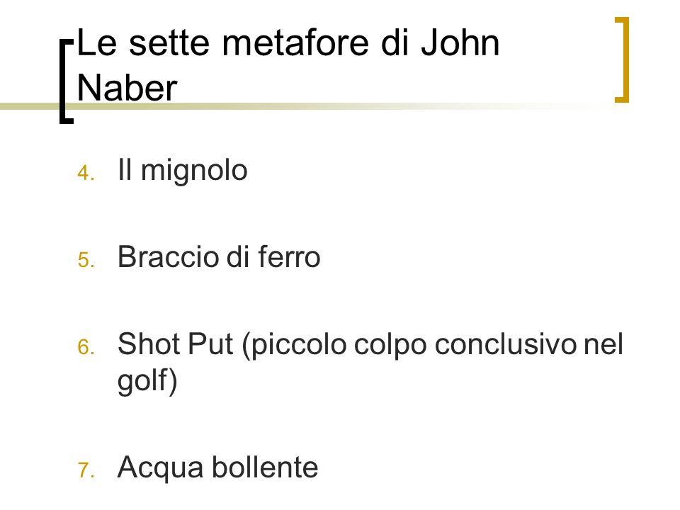 Le sette metafore di John Naber 4.Il mignolo 5. Braccio di ferro 6.