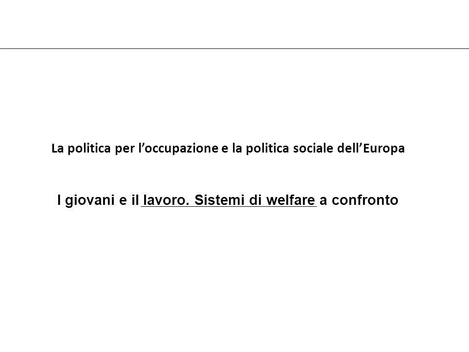 La politica per l'occupazione e la politica sociale dell'Europa I giovani e il lavoro.