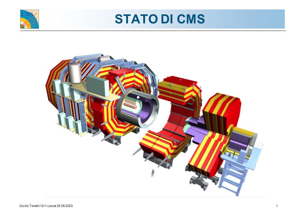 Guido Tonelli / Gr1-Lecce 25.09.20031 STATO DI CMS