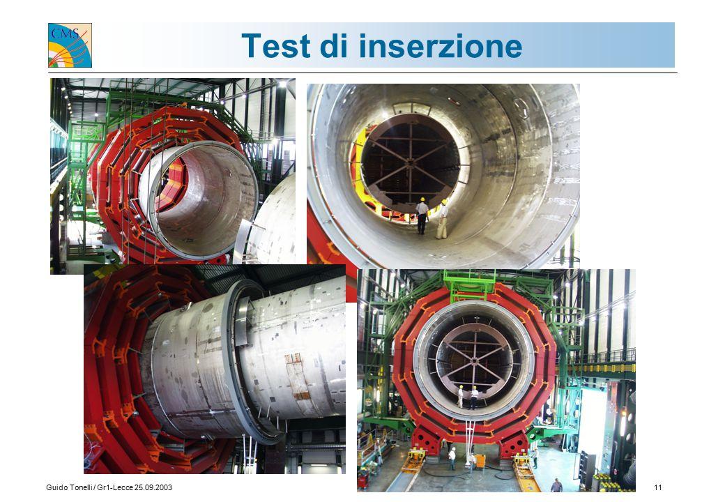 Guido Tonelli / Gr1-Lecce 25.09.200311 Test di inserzione