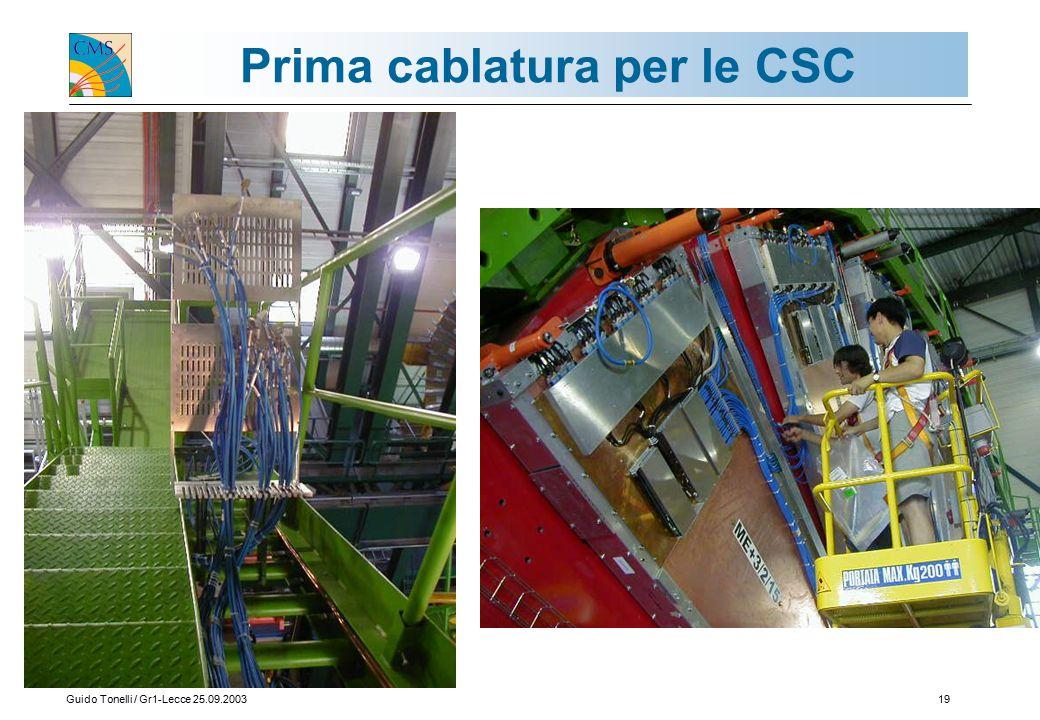 Guido Tonelli / Gr1-Lecce 25.09.200319 Prima cablatura per le CSC