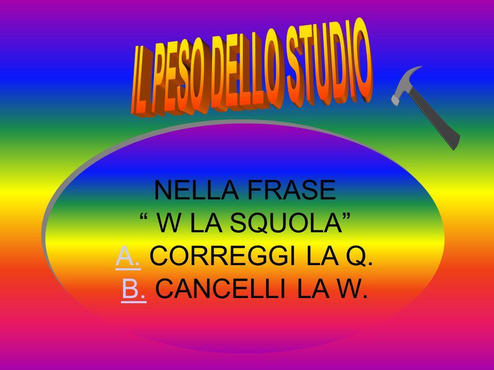 NELLA FRASE W LA SQUOLA A.A. CORREGGI LA Q. B.B.