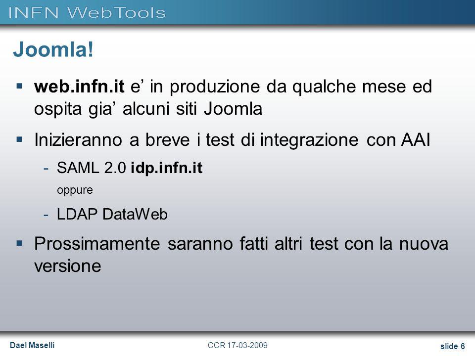 Dael Maselli slide 6 CCR 17-03-2009 Joomla.