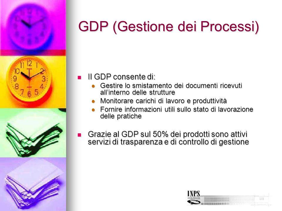 GDP (Gestione dei Processi) Il GDP consente di: Il GDP consente di: Gestire lo smistamento dei documenti ricevuti all'interno delle strutture Gestire