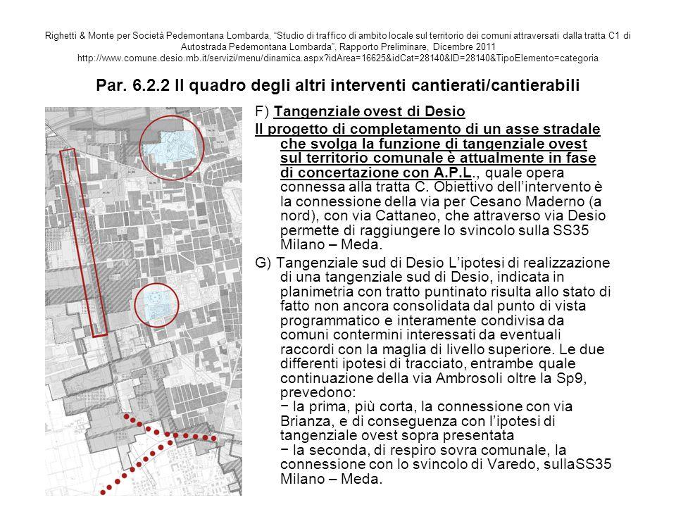 """Righetti & Monte per Società Pedemontana Lombarda, """"Studio di traffico di ambito locale sul territorio dei comuni attraversati dalla tratta C1 di Auto"""