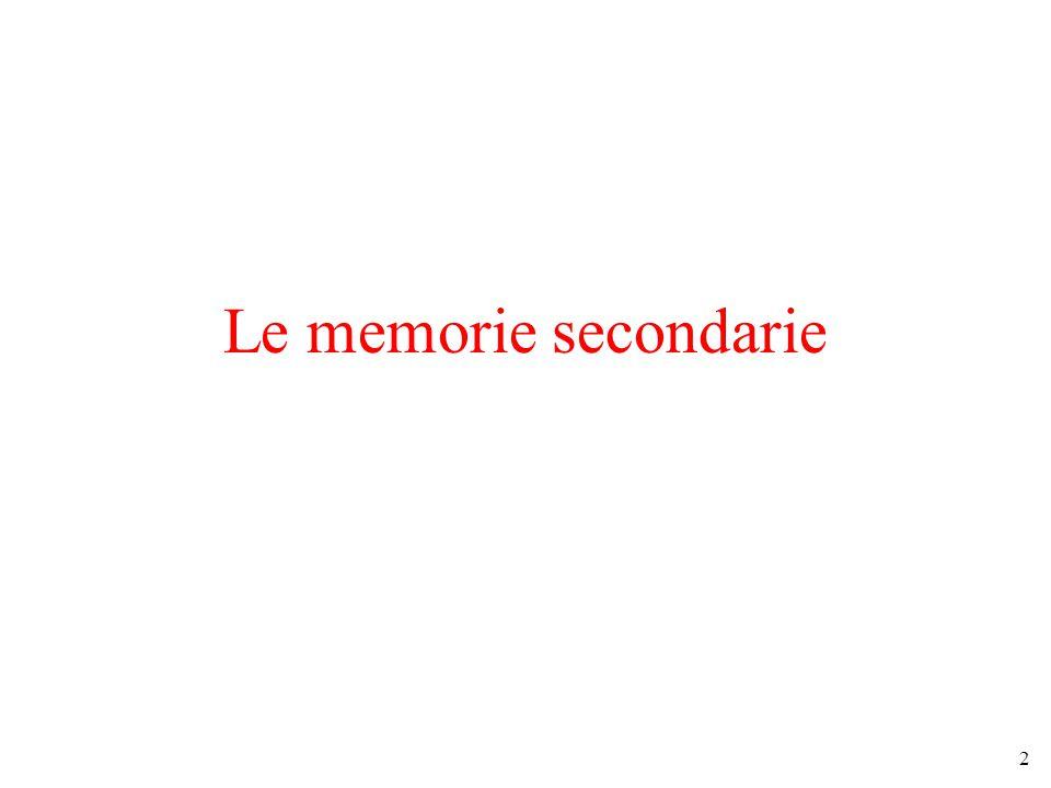 2 Le memorie secondarie