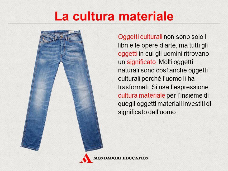 Oggetti culturali non sono solo i libri e le opere d'arte, ma tutti gli oggetti in cui gli uomini ritrovano un significato. Molti oggetti naturali son
