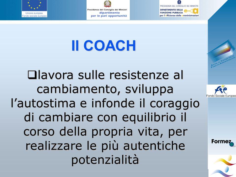 Giovanna Giuffredi Il COACH  lavora sulle resistenze al cambiamento, sviluppa l'autostima e infonde il coraggio di cambiare con equilibrio il corso della propria vita, per realizzare le più autentiche potenzialità