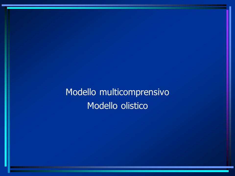 Modello multicomprensivo Modello olistico
