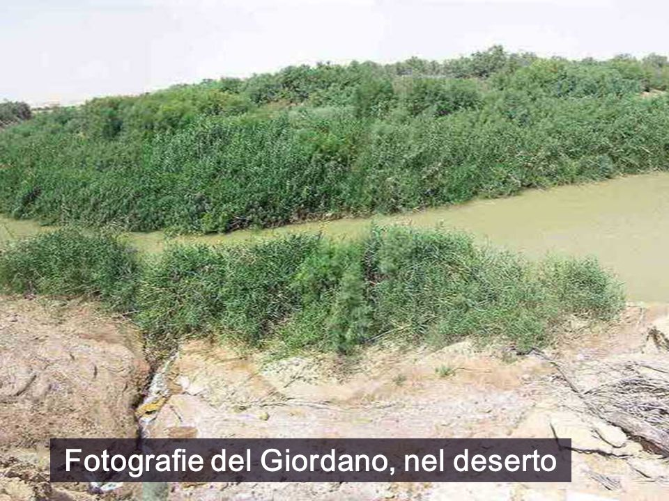 Fotografie del Giordano, nel deserto