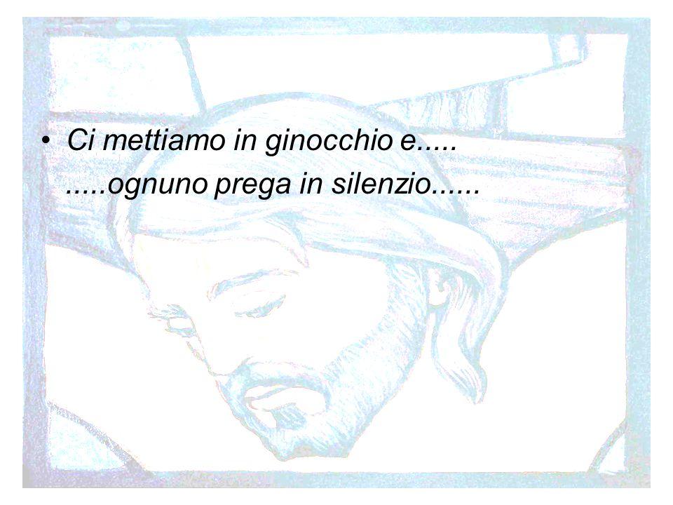 Preghiera Ci mettiamo in ginocchio e..........ognuno prega in silenzio......