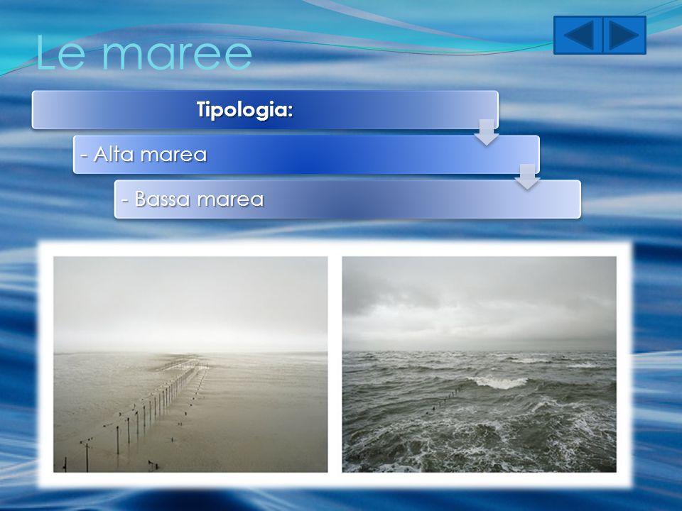 Le maree Tipologia: - Alta marea - Bassa marea