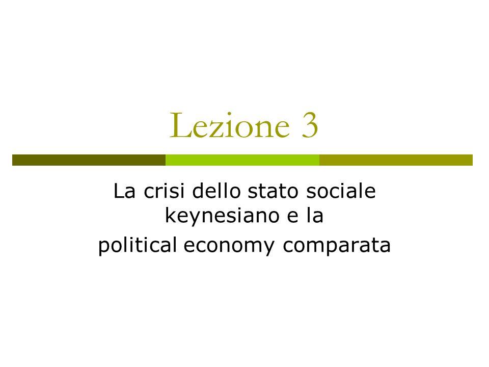 Lezione 3 La crisi dello stato sociale keynesiano e la political economy comparata