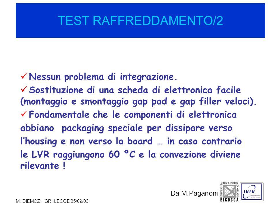 M. DIEMOZ - GRI LECCE 25/09/03 Nessun problema di integrazione.