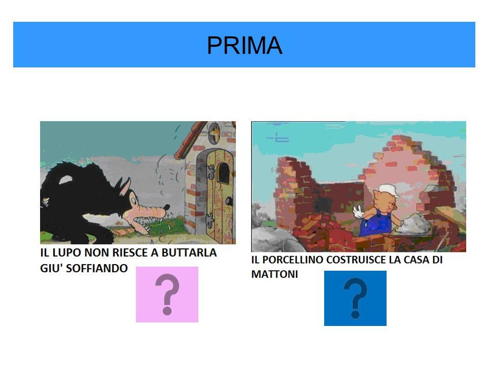 PRIMA IL LUPO SOFFIA E DISTRUGGE LA CASA DI PAGLIA
