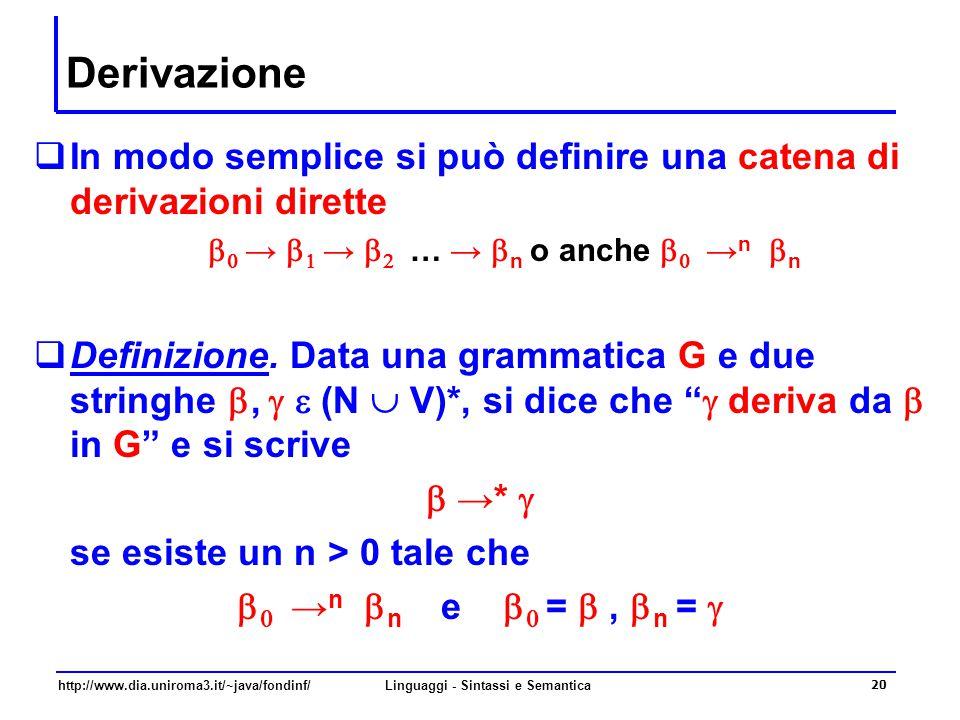http://www.dia.uniroma3.it/~java/fondinf/Linguaggi - Sintassi e Semantica 21 Linguaggi generati...