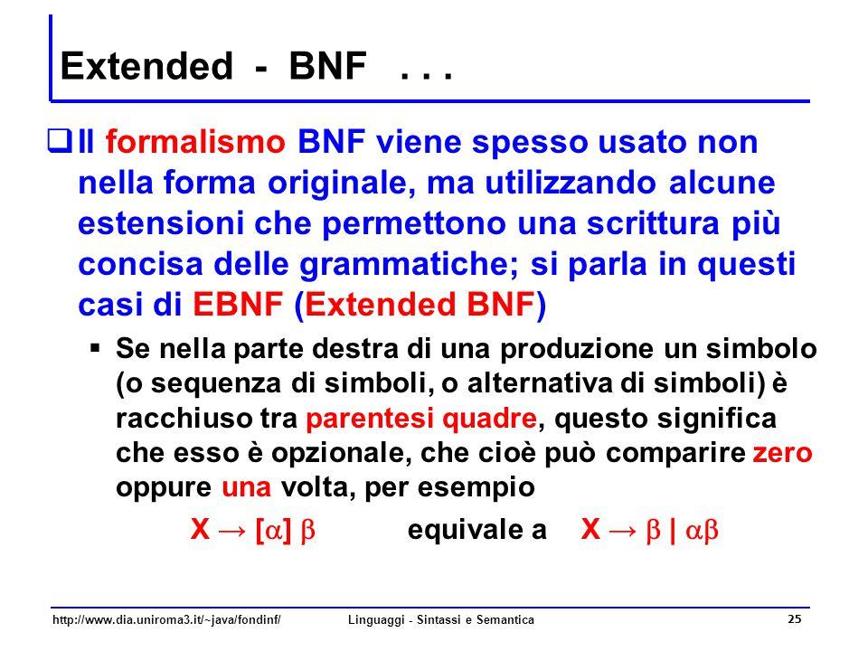 http://www.dia.uniroma3.it/~java/fondinf/Linguaggi - Sintassi e Semantica 25 Extended - BNF...