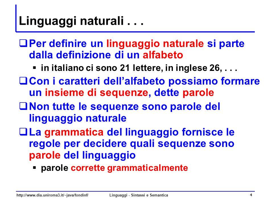 http://www.dia.uniroma3.it/~java/fondinf/Linguaggi - Sintassi e Semantica 4 Linguaggi naturali...