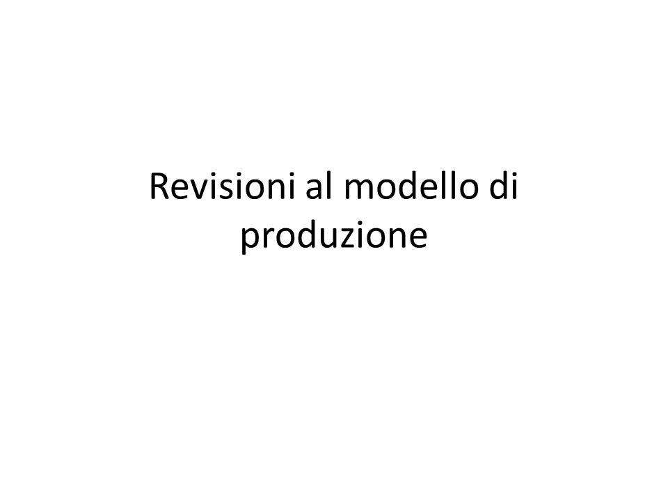 Revisioni al modello di produzione