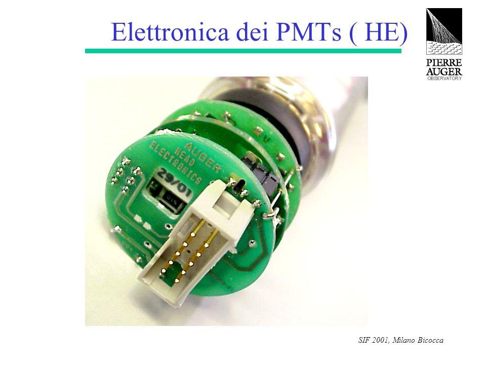 SIF 2001, Milano Bicocca Elettronica dei PMTs ( HE)