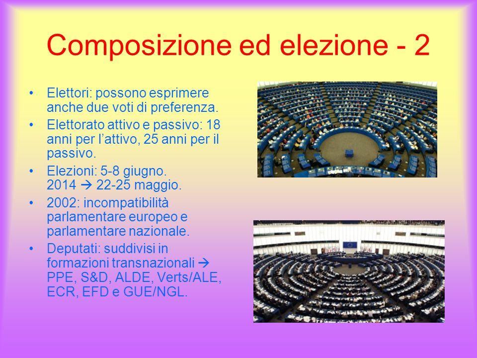 Composizione ed elezione - 2 Elettori: possono esprimere anche due voti di preferenza.