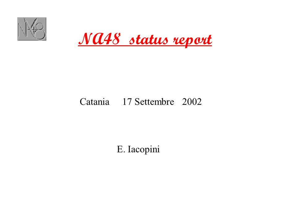 NA48 status report Catania 17 Settembre 2002 E. Iacopini