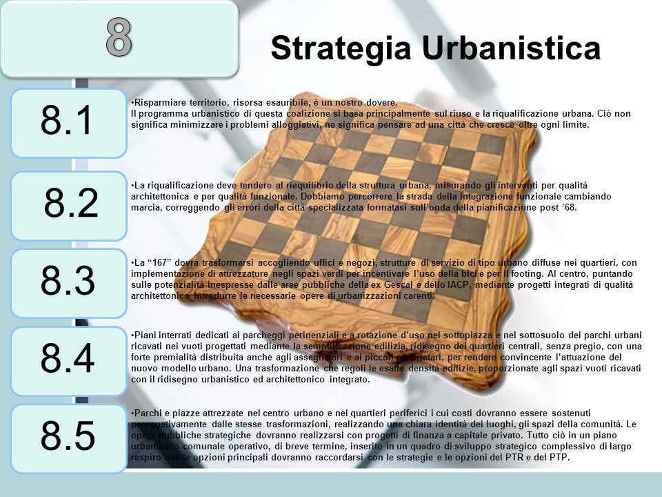 Strategia Urbanistica Risparmiare territorio, risorsa esauribile, è un nostro dovere. Il programma urbanistico di questa coalizione si basa principalm