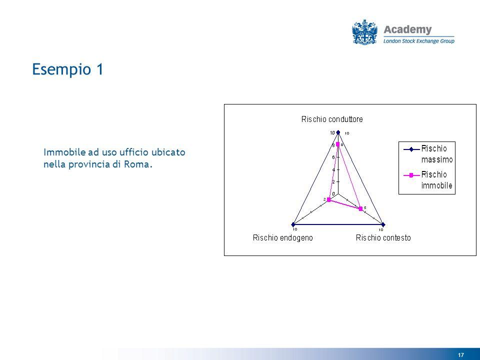 17 Esempio 1 Immobile ad uso ufficio ubicato nella provincia di Roma.