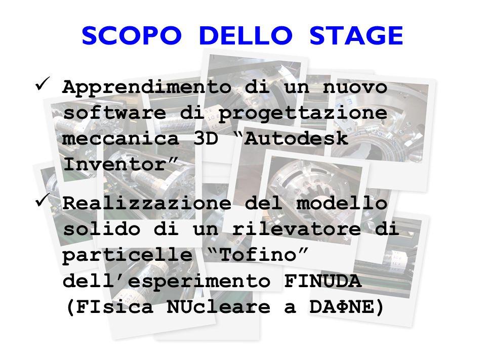 """SCOPO DELLO STAGE Apprendimento di un nuovo software di progettazione meccanica 3D """"Autodesk Inventor"""" Realizzazione del modello solido di un rilevato"""