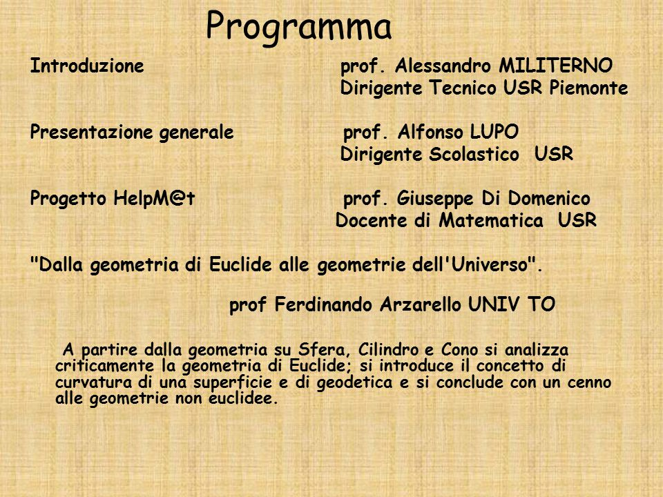 Programma Introduzione prof.
