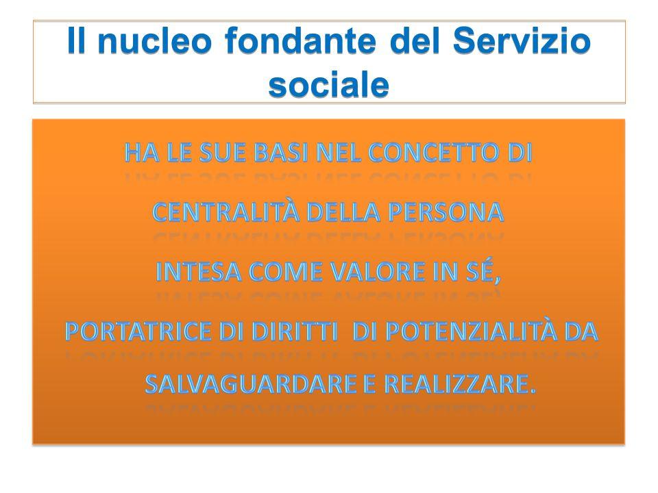 Il nucleo fondante del Servizio sociale