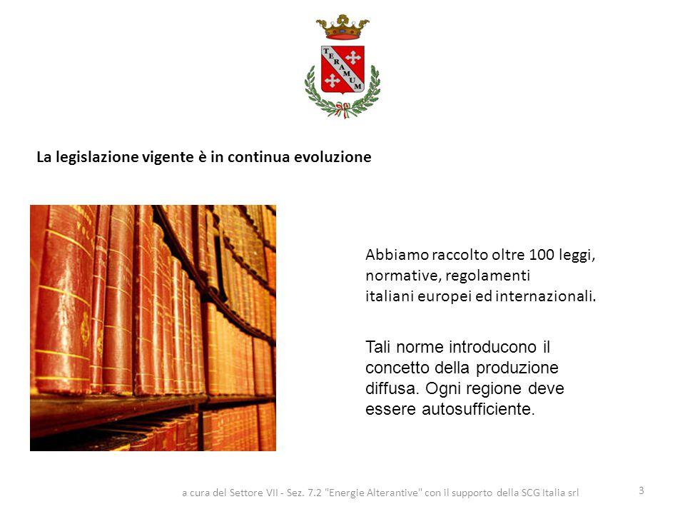 Abbiamo raccolto oltre 100 leggi, normative, regolamenti italiani europei ed internazionali. La legislazione vigente è in continua evoluzione 3 a cura