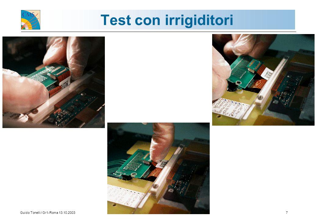 Guido Tonelli / Gr1-Roma 13.10.20037 Test con irrigiditori