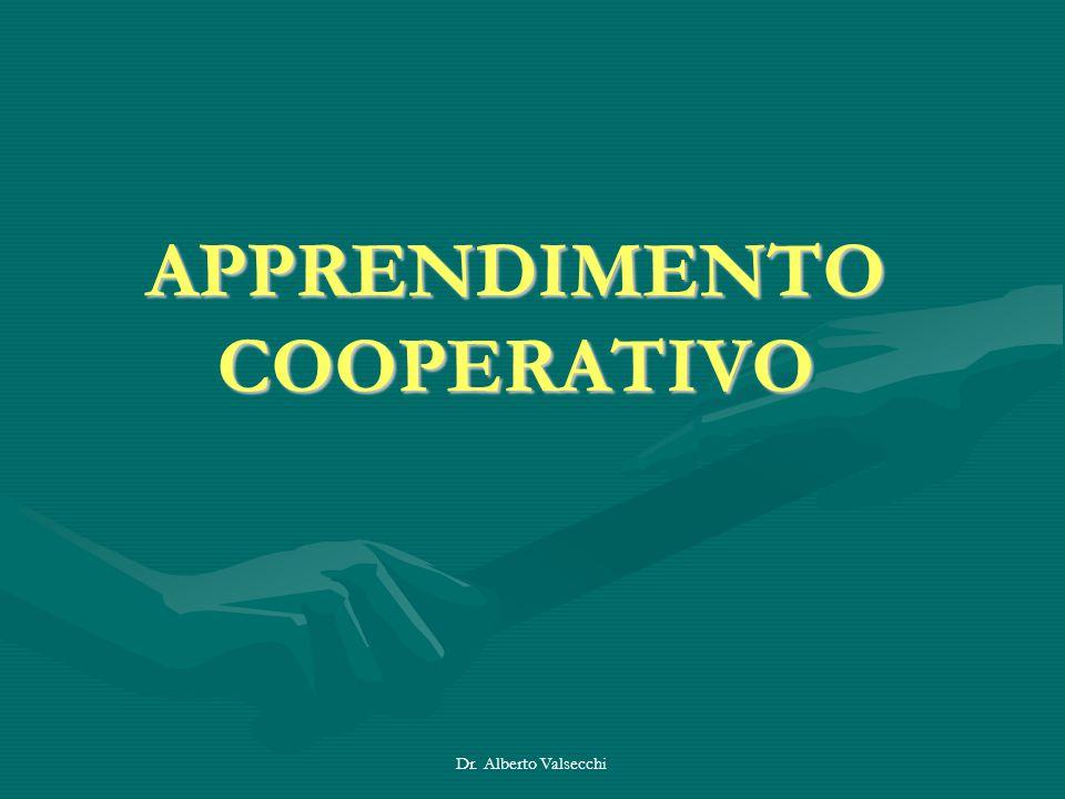 Dr. Alberto Valsecchi APPRENDIMENTO COOPERATIVO