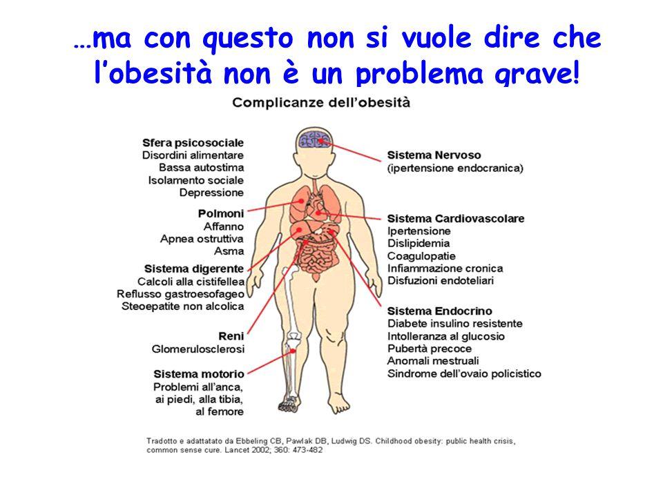 …ma con questo non si vuole dire che l'obesità non è un problema grave!
