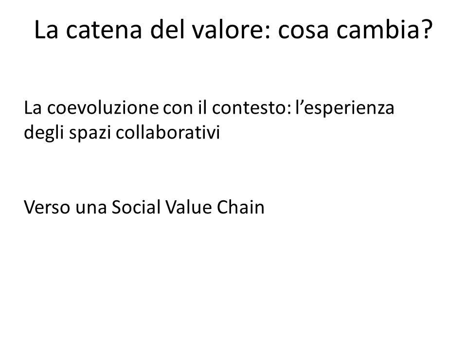 La catena del valore: cosa cambia? La coevoluzione con il contesto: l'esperienza degli spazi collaborativi Verso una Social Value Chain
