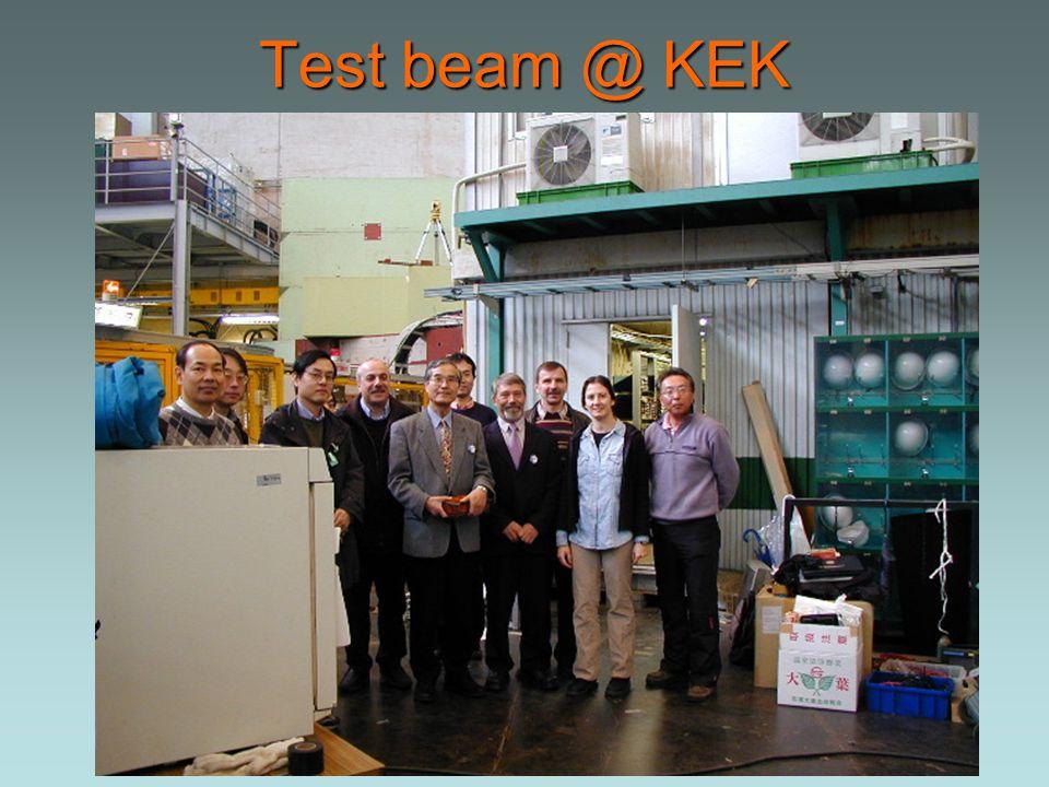 Test beam @ KEK