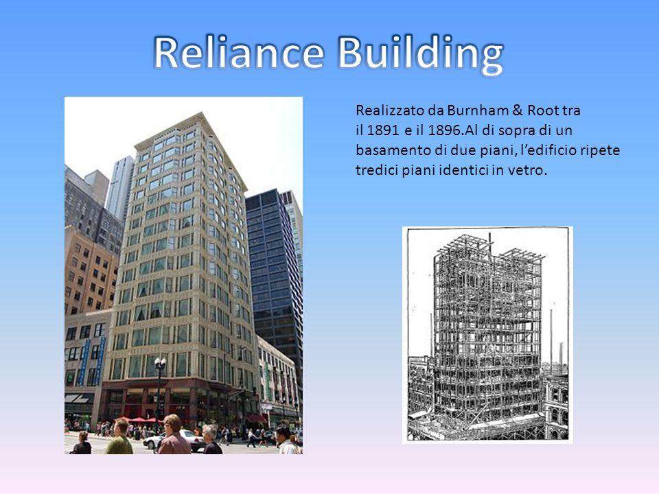Realizzato da Burnham & Root tra il 1891 e il 1896.Al di sopra di un basamento di due piani, l'edificio ripete tredici piani identici in vetro.