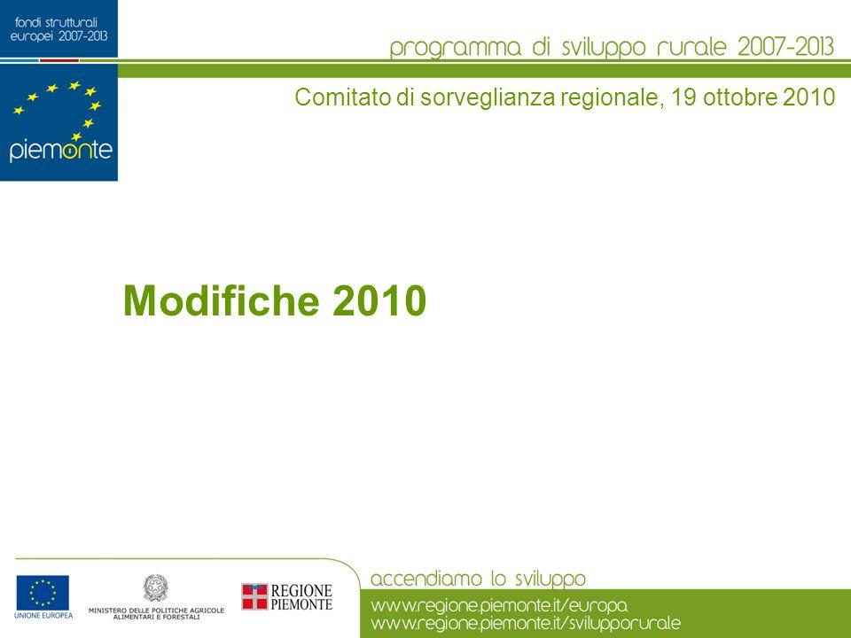 Modifiche 2010 Comitato di sorveglianza regionale, 19 ottobre 2010
