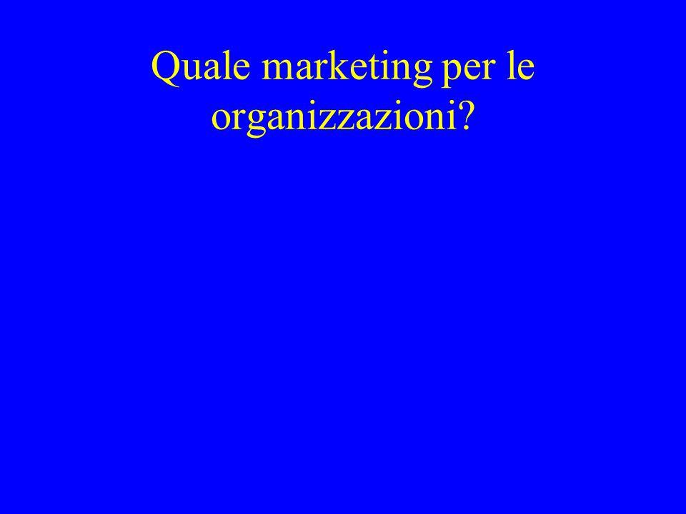 Quale marketing per le organizzazioni?