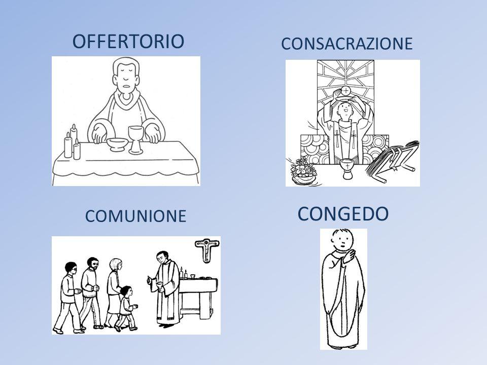 OFFERTORIO CONSACRAZIONE COMUNIONE CONGEDO